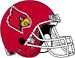 NCAA-ACC-Louisville Cardinals Red helmet-white fasemask