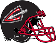 ArenaLeague-Cleveland Gladiators Black Red Helmet