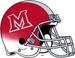 Miami (Ohio) Redhawks Red White Cascade Helmet-Red Logo