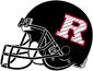 NCAA-Big 10-Rutgers Scarlet Knights 2020 Black Alt Helmet-Right side