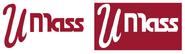 UMass retro red white logos
