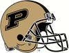 NCAA-Big 10-Purdue Boilermakers Gold Helmet 2