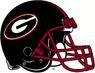 NCAA-SEC-Georgia Bulldogs Black helmet red facemask