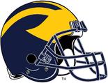 NCAA-Big 10-Michigan Wolverines Helmet