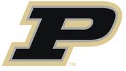NCAA-Big 10-Purdue Boilermakers Black Gold Trim logo