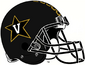 NCAA-ACC-Vanderbilt Commodores Black Anchor Down helmet