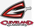 ArenaLeauge-Cleveland Gladiators logo & wordmark