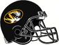 NCAA-SEC-Mizzou Tigers All-Black helmet w. facemask