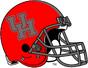 NCAA-AAC-Houston Cougars Red & Dark Grey Alternate Helmet