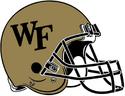 NCAA-ACC-Wake forest gold helmet
