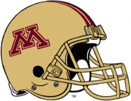 NCAA-Big 10-Minnesota Golden Gophers Gold Alt Helmet-Striped