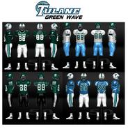 NCAA-Tulane Green Wave-Uniform
