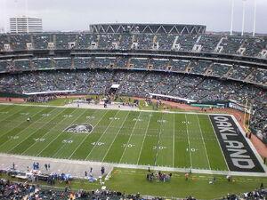 Overstock.com Coliseum before a football game
