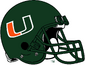NCAA-ACC-Miami Hurricanes Green helmet