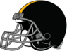 Pittsburgh Steelers helmet Right side-grey facemask