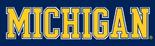 NCAA-Big 10-1996 Michigan Wolverines maize white trim wordmark-navy background