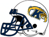 Kent State Golden Flashes White Helmet-Navy Blue facemask-Right side