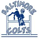 1953-60 Baltimore Colts wordmark mascot logo