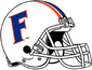 NCAA-SEC-Florida Gators White F logo Helmet