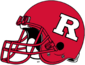 NCAA-Big 10-Rutgers Scarlet Knights Crimson helmet-Right side