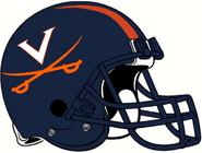 NCAA-ACC-2001-2018 Virginia Cavs helmet