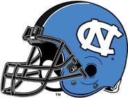 NCAA-ACC-UNC Tar Heels-Carolina Blue helmet-Navy facemask-Right side