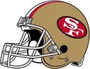 NFL-NFC-SF49ers-1964 1987 Helmet-Right Face