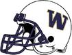 NCAA-Pac-12-Washington Huskies White helmet-Right side