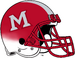 Miami (Ohio) Redhawks Red White Cascade Helmet-Red Facemask