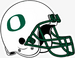 NCAA-Pac12-Oregon Ducks White O helmet-green facemask