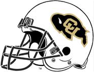 NCAA-Colorado Buffaloes White Helmet-Right side