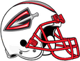 ArenaLeague-Cleveland Gladiators All White-Red Alt Helmet