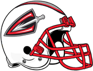 ArenaLeague-Cleveland Gladiators All White-Red Alt Helmet
