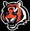 NFL-AFC-CIN-Bengals Tiger Head Mascot logo-Black background