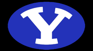 NCAA-BYU-Cougars Royal Blue logo-Black background