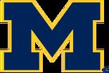 NCAA-Big 10-1996 Michigan Wolverines navy blue alt logo