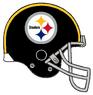 Steelers Retro Black Helmet Grey Facemask