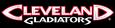 ArenaLeague-Cleveland Gladiators Black white wordmark