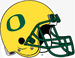 NCAA-Pac12-Oregon Ducks Yellow O helmet-green facemask