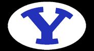NCAA-BYU-Cougars white logo-Black background