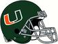 NCAA-ACC-Miami Hurricanes 1972-75 Green helmet