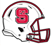 NC State Wolfpack White Helmet Logo - NCAA Division I