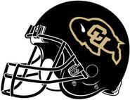NCAA-Colorado Buffaloes Black Helmet-Right side
