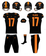 NCAA-SEC-Tennessee Vols Black jerseys