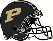 NCAA-Big 10-2016 Purdue Boilermakers Black Helmet