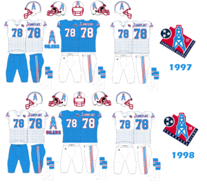 tennessee oilers jersey