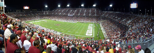 The 2008 Stanford-USC game marked the first sellout of Stanford Stadium since it opened in 2006.[7]