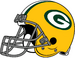 NFL-NFC-helmet-GB Right Face-Grey facemask