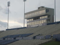 Joe Aillet Stadium home stands and press box
