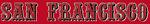 NFL-NFC-49ers San Francisco 1996 alt wordmark logo-Red background